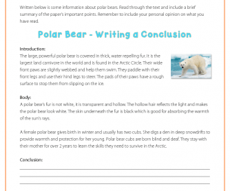 Writing a Conclusion - Polar Bears
