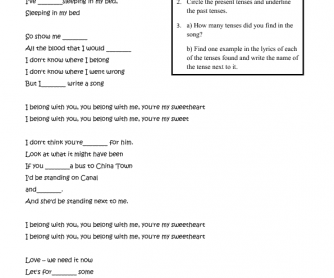 Song Worksheet: Ho Hey
