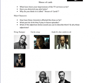 House of Cards Personalities