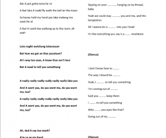 Song Worksheet: I Really Like You by Carly Rae Jepsen