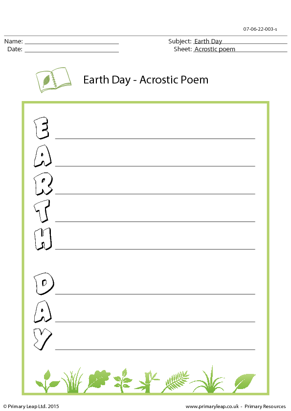 67 FREE Earth Day / Earth Hour Worksheets