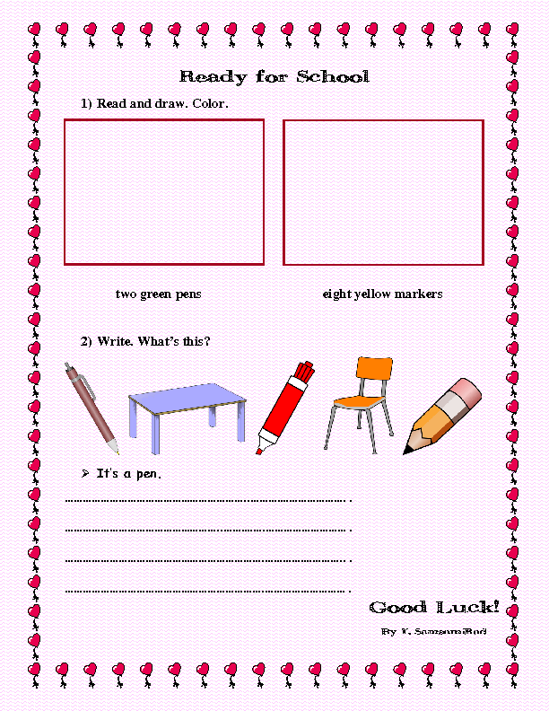 264 FREE Back to School Activities Worksheets – First Day of School Worksheet