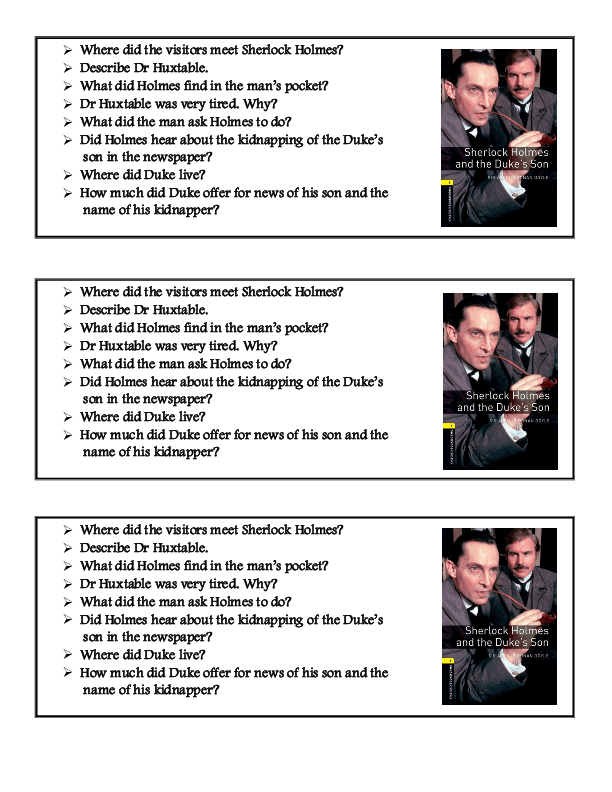 wide reading assignment sherlock holmes essay The adventures of sherlock holmes lesson plan includes 60 short essay assignments that require students to understand and interpret the work.