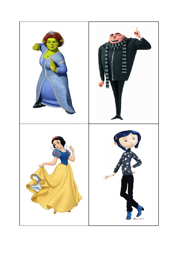 Animated Characters Description Flashcards
