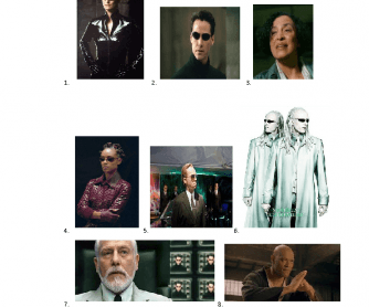 Movie Worksheet: Matrix 2. Reloaded