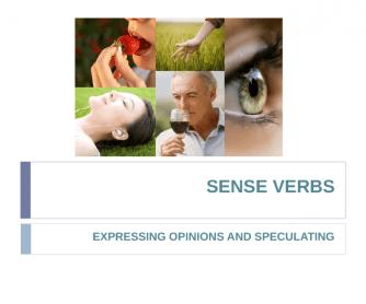 Sense Verbs