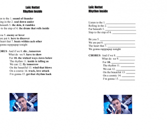 Song Worksheet: Rhythm Inside by Loïc Nottet ( Eurovision 2015)
