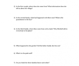 Movie Worksheet: Modern Family Trailer Season 1