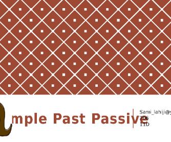 Simple Past Passive