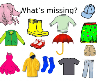 Clothes - What's Missing?