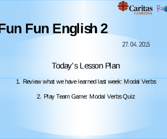 Modal Verbs Review Quiz Game