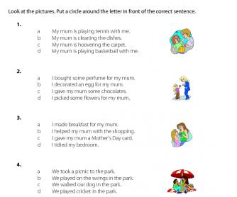 Mother's Day - Correct Sentences (1)
