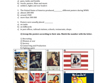 War Posters Lesson Plan/Worksheet