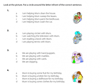Mother's Day - Correct Sentences (4)