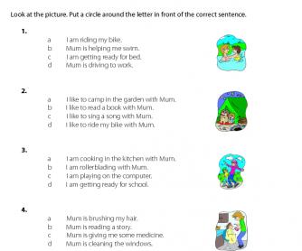 Mother's Day - Correct Sentences (5)