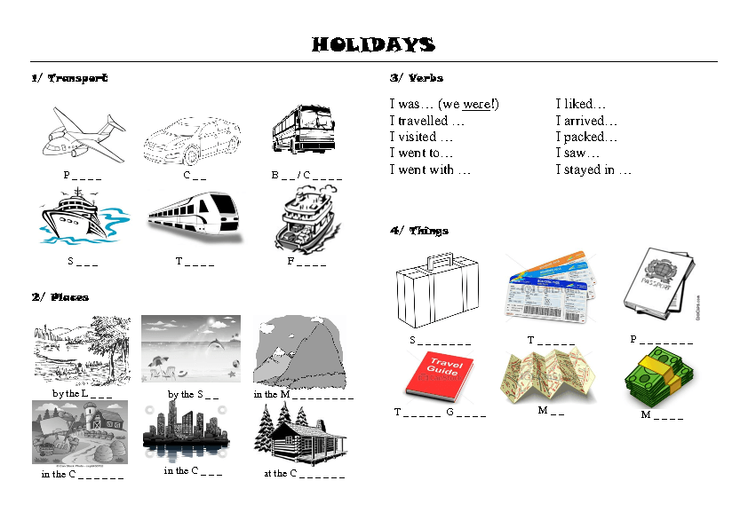 138 FREE Transport Worksheets – Holiday Worksheets
