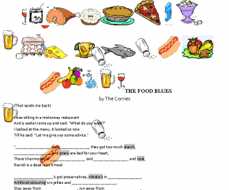 Song Worksheet: The Food Blues by The Corries