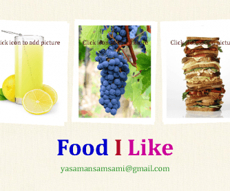 Food I Like- PowerPoint