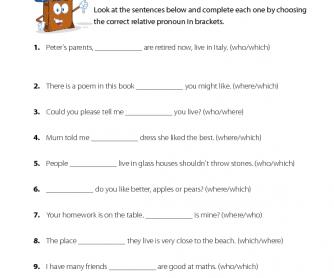 English Lesson - Relative Pronouns (1)