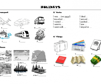 Simple Holidays Worksheet
