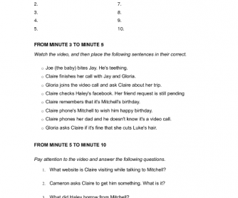 Movie Worksheet: Modern Family