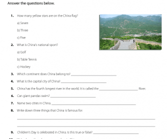 Quiz on China