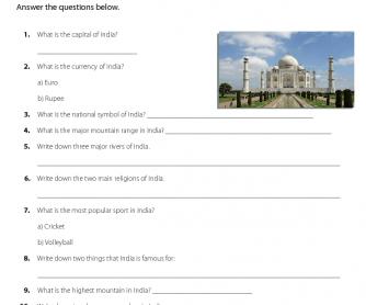 Quiz on India