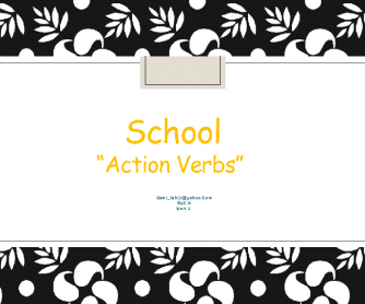 School, Action Verbs