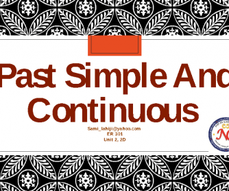 Pas Simple and Past Continuous