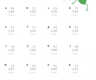 Number Names Worksheets addition math sheet : Pre School Worksheets : addition with carrying worksheets for ...