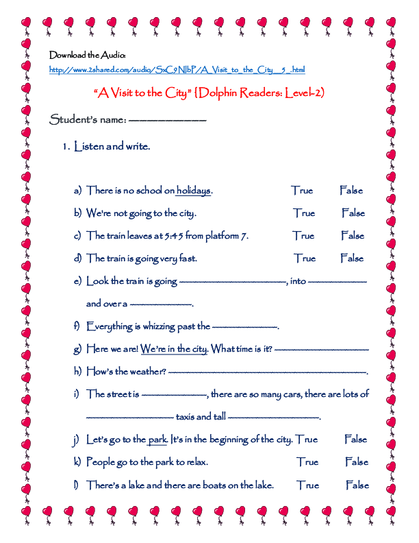 138 FREE Transport Worksheets – Listening Skills Worksheets