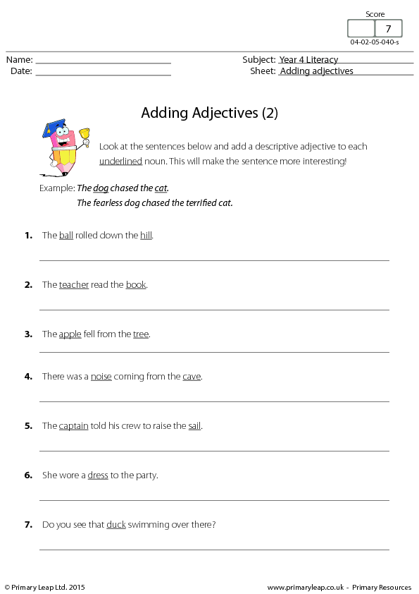 Adding Adjectives 2