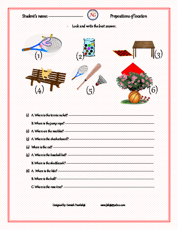 math worksheet : 427 free preposition worksheets teach prepositions with style! : Preposition Worksheets Kindergarten