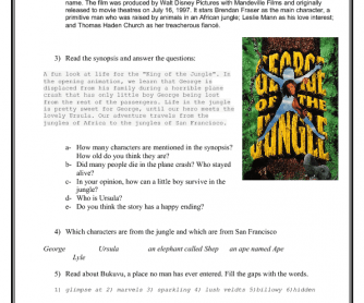 Movie Worksheet: George of the Jungle. Part 1