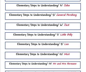 Steps to Undrestanding