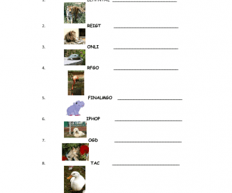 Animal Scrabble