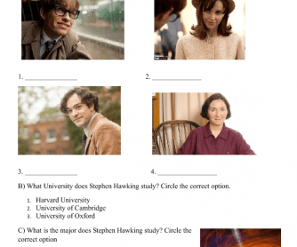 Movie Worksheet: The Theory of Everything