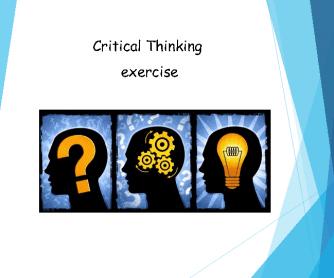 Critical Thinking Warmer