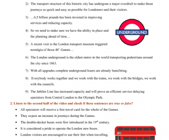 Movie Worksheet: Transport in London