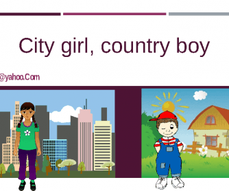 Story Book: City Girl, Country Boy