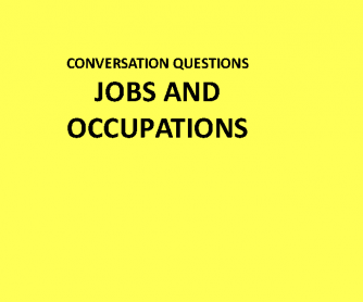 Conversational Questions- Jobs and Occupations Ppt