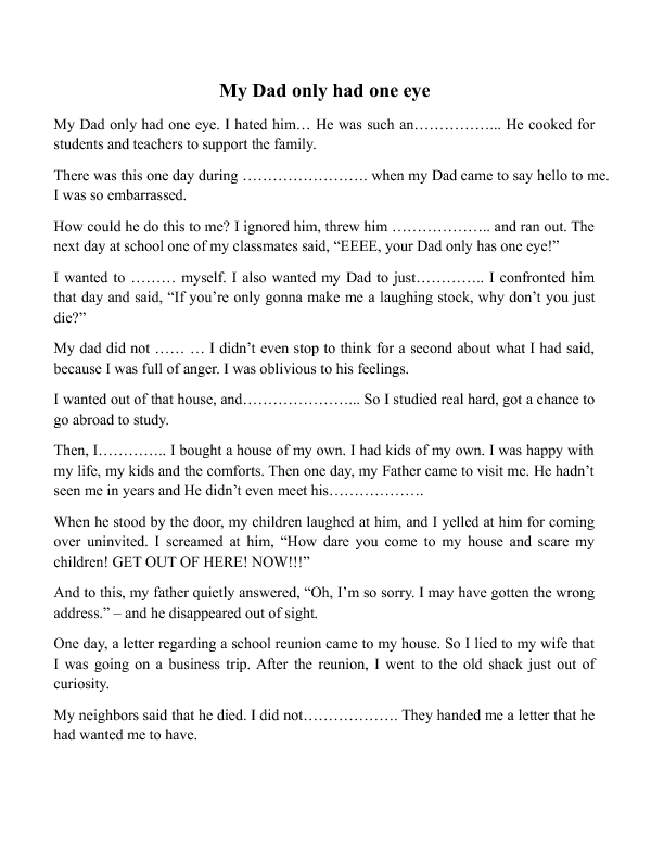 descriptive essay about your dad Every student sooner or later will be exposed to writing numerous academic  essays have a look at our sample father essay if you were given a similar  topic.