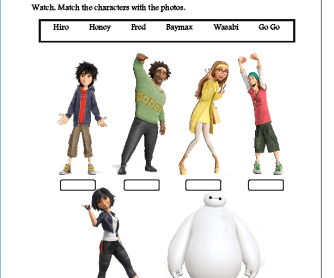 Big hero 6 writing activity third