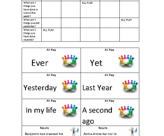 Present Perfect Review Game