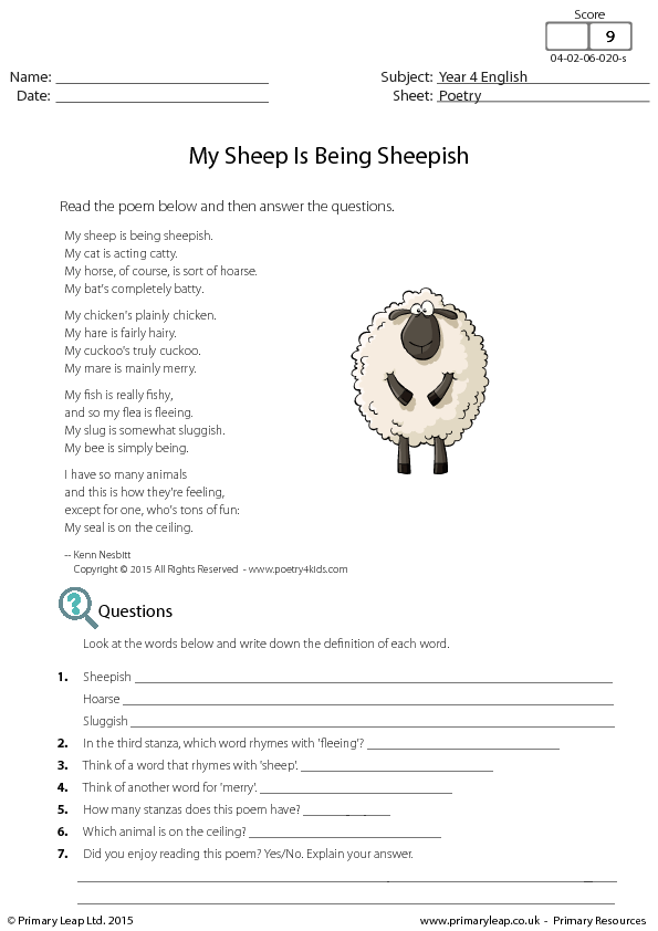 88 free humour worksheets