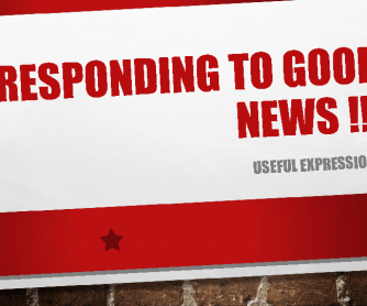 Responding to Good News