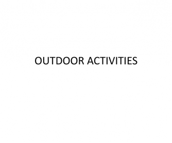 Outdoor Activities PowerPoint (Pictures, Cards)