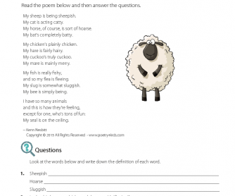 Poetry - My Sheep Is Being Sheepish