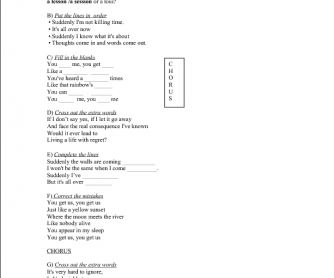 Song Worksheet: You Get Me by Seal and Biuka