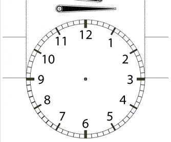 Telling the Time Cutout Student Desktop Clock (with Numbers)